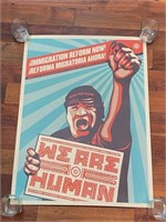 """Signed 2009 """"We are Human"""" Obey"""