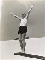 1930's Maurice Chevalier On Diving Board