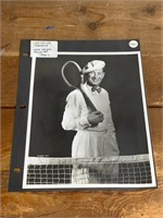 1930's Maurice Chevalier with Tennis Racket
