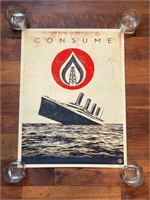 """Signed and Numbered """"Consume"""" Obey"""