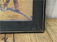 Framed and Matted Fredrick Remington