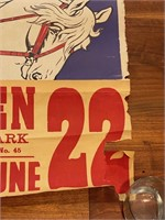 Clyde Beatty Circus Poster from