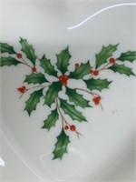 Lenox Heart Holiday Dish With Box