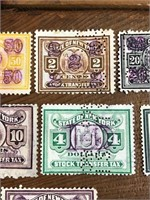 Selection Of United States State Stamp