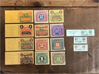 Selection Of Ohio Vender Stubs