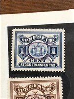6 State Of New York Stock Transfer Stamps