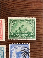 Four United States State Stamps