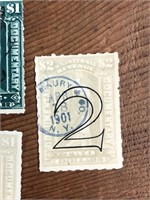 Selection Of Late 1800s Early 1900s US Stamps