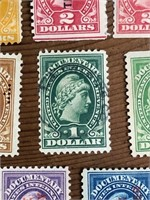 Selection Documentery Stock Transfer Stamps