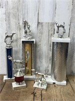 Selection Of Dog Show Trophys