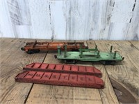 Two Lionel Train Carts