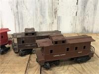Three Lionel Train Cars