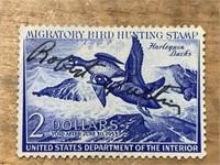 1952 Harlequin Ducks $2 Migratory Bird