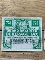 Selection of Wine and Mixed Beverage Taxed
