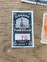 Selection of US and canadian Stamps