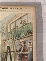 """1898 """"Well Known Political  Artists Preparing for"""