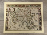 "Reprint 1662 ""Map of Asia by The Famous Blaeu"