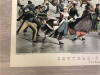 """Reprint 1862 """"Central-Park, Winter. The Skating P"""