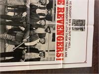 1972 The Revengers Litho Movie Poster