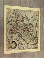 """Reprint 1663 """"Map of Europe from the"""