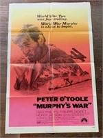 1971 Murphjy's War Litho Movie Poster