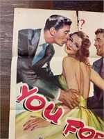 1962 You for me Lithograph Movie Poster