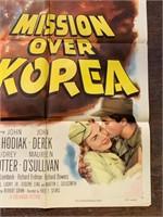 1953 Mission Over Korea Movie Poster
