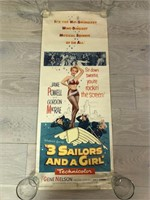 "1954 ""3 Sailors and a Girl"" Warner Bros. Movie P"