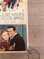 "1950 ""The Daughter of Rosie O'Grady"" Movie Poste"