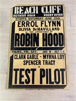 """""""Robin Hood"""" and """"Test Pilot"""" Movie Poster"""