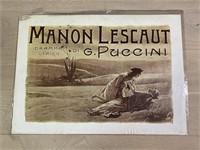 """""""Manon Lescaut"""" Arti Grafiche Ricordi"""