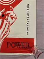 """Limited Edition Signed """"Power"""" Poster"""