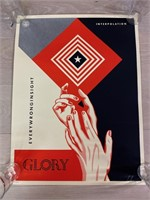 """Limited Edition Signed """"Glory"""" Poster"""