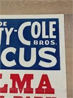 1975 Clyde Beatty-Cole Bros. Circus Poster