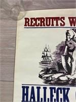 """Recruits Wanted"" Civil War Poster"