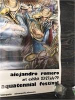 Signed Alejandro Romero Art Exhibit