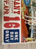 King Bros. Circus Poster