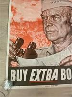 """1944 """"Buy Extra Bonds, Back 'Em Up"""""""