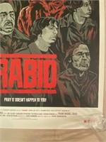 "Artist Proof ""Rabid"" Movie Poster"