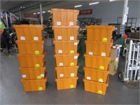 Lot (16) Orange FoldTop HeavyDuty Storage Crates
