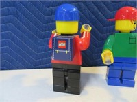 "Lot (2) LEGO 2002 7"" DeskPal Collectible Figures"