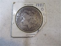 1881 Morgan Silver  Dollar Coin