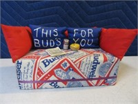 Budweiser Handmade Brick Couch Doorstop Decor