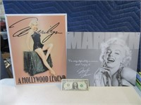 Lot (2) Marily Monroe Metal Signs Wall Art EXC
