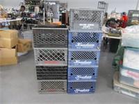 Lot (9) MetalRim XL Milk Crates HeavyDuty