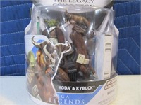 08' Star Wars Yoda&Kybuck Legacy MINT Action Figue