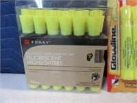 Lot (24) New Yellow Highlighters Pens