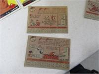 Lot (19) 50's era Baseball Collector's Cards