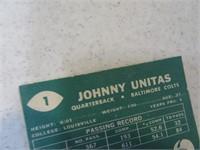 Lot (2) Johnny Unitas 50's Football Cards