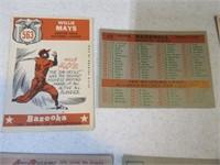 Lot (12) 50's era Baseball Sports Cards